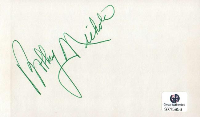 Bobby Nichols Signed Autographed Index Card PGA Golf Legend Masters GX15956