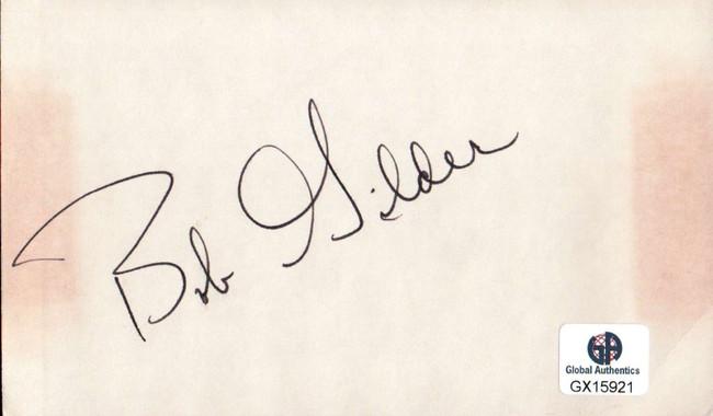 Bob Gilder Signed Autographed Index Card PGA Golf Legend Masters GX15921