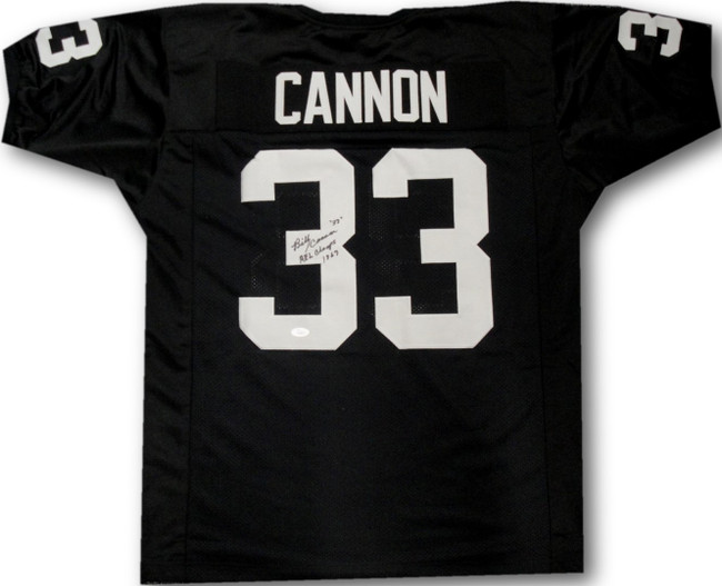 Billy Cannon Hand Signed Full Size Football Jersey #20 Heisman Raiders JSA