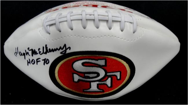 Hugh McElhenny  Hand Signed Autographed Full Size Football SF 49ers HOF 70 JSA
