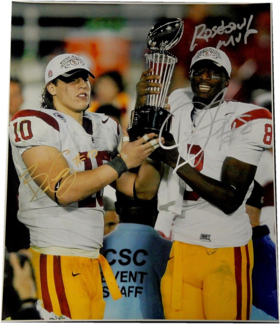 Dwayne Jarrett & Brian Cushing Dual Hand Signed Autographed 18x24 Photograph USC