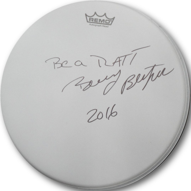 "Bobby Blotzer Ratt Hand Signed Autograph 15"" Drum Head Drumhead from May 2016 D1"