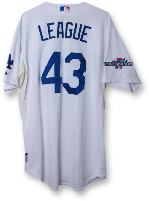 Brandon League Team Issue Jersey Dodgers Home White 2013 Play-Off #43 EK645294