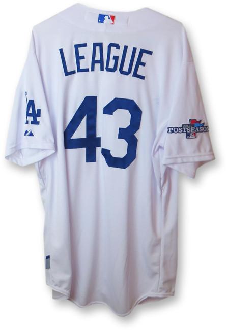 Brandon League Team Issue Jersey Dodgers Home White 2013 Playoff #43 EK645286