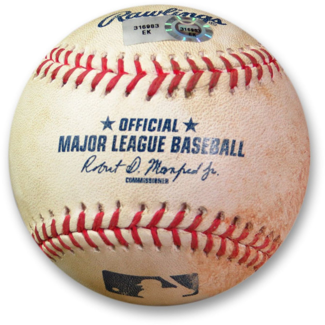 Clayton Kershaw Game Used Baseball 6/17/15 - Pitch to Gallo Dodgers EK316983
