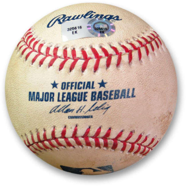 Adrian Gonzalez Game Used Baseball 6/27/13 - Foul vs. Pettibone Dodgers EK325616