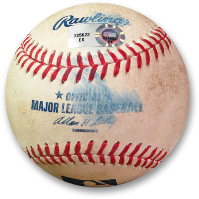 Andre Ethier Game Used Baseball 6/27/13 - Foul Ball vs Bastardo Dodgers EK325622