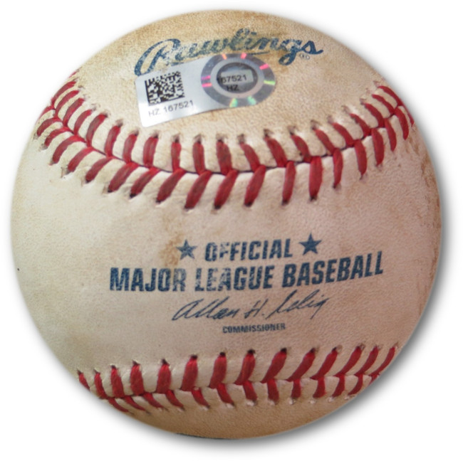 Adrian Gonzalez Game Used Baseball 6/14/2014 Foul Ball Dodgers vs. AZ HZ167521