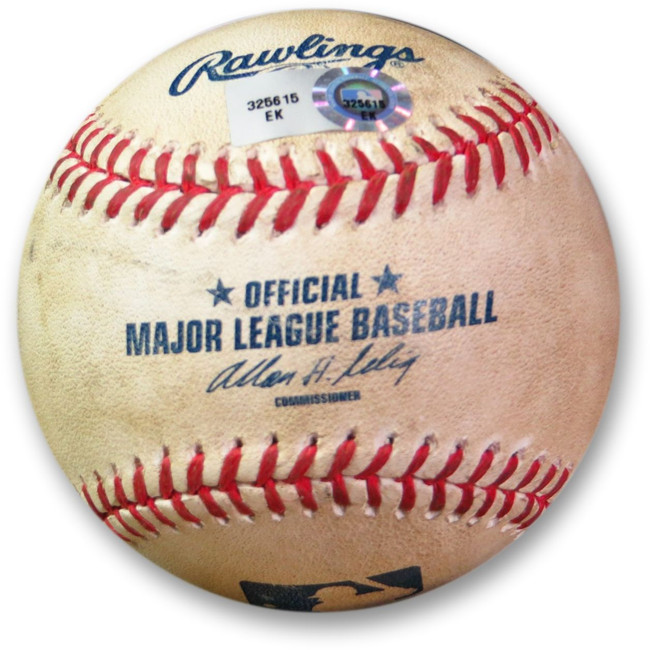 Adrian Gonzalez Game Used Baseball 6/27/13 - Foul vs. Pettibone Dodgers EK325615