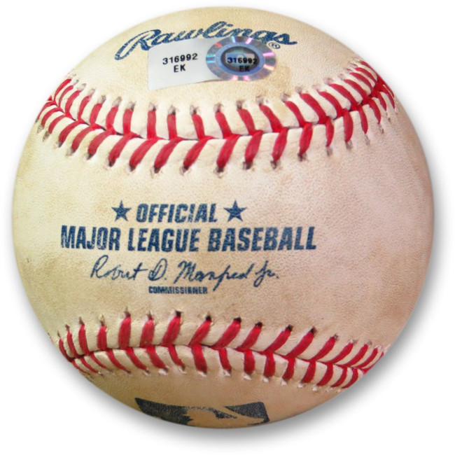 Clayton Kershaw Game Used Baseball 6/17/15 - Pitch to Martin Dodgers EK316992