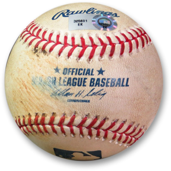 Andre Ethier Game Used Baseball 6/27/13 - Double vs. Pettibone Dodgers EK325601