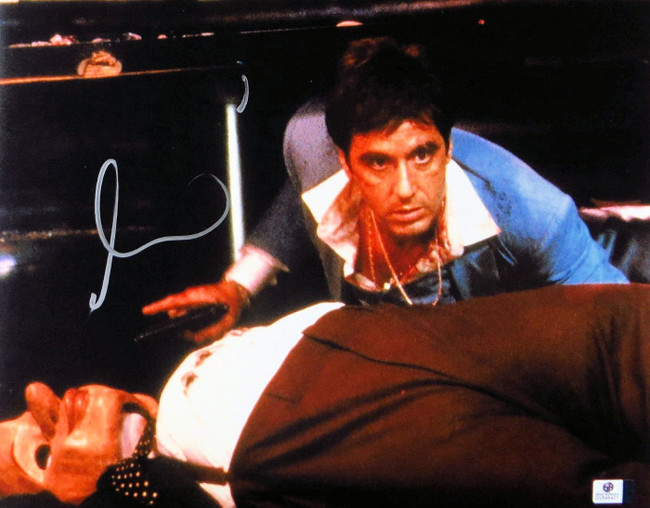 Al Pacino Signed Autographed 11X14 Photo Scarface w/Gun GV848421