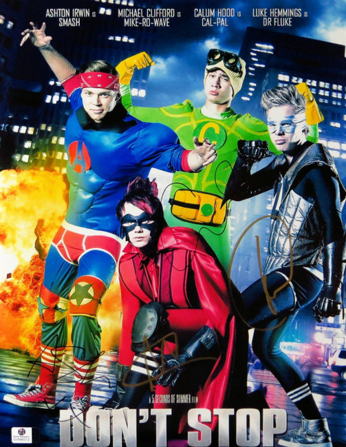 5 Seconds of Summer Full Band Signed Autographed 11X14 Photo Don't Stop GV848312