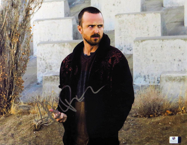 Aaron Paul Signed Autographed 11X14 Photo Breaking Bad Staring GV848328