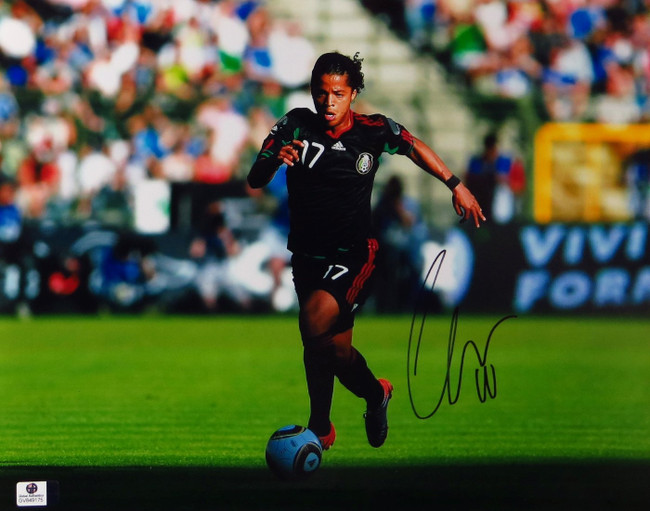 Giovani dos Santos Signed Autographed 11X14 Photo Mexico LA Galaxy GV849175