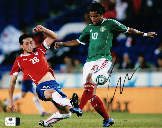 Giovani dos Santos Signed Autographed 8X10 Photo LA Galaxy Action Shot GV849638