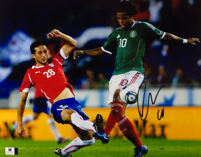 Giovani dos Santos Signed Autographed 11X14 Photo LA Galaxy Mexico GV849181
