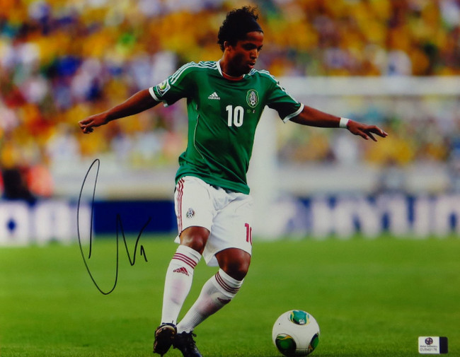 Giovani dos Santos Signed Autographed 11X14 Photo Mexico LA Galaxy GV849176