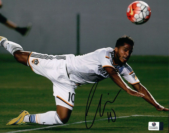 Giovani dos Santos Signed Autographed 8X10 Photo LA Galaxy Action Shot GV849635