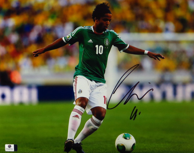 Giovani dos Santos Signed Autographed 11X14 Photo LA Galaxy Mexico GV849180