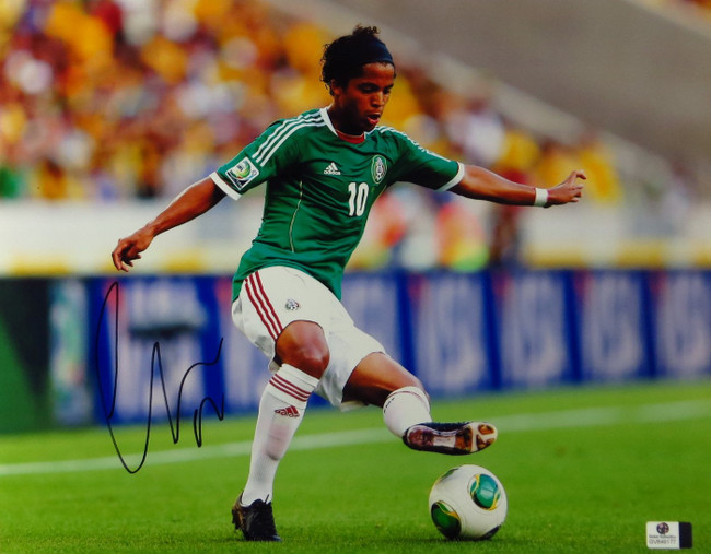 Giovani dos Santos Signed Autographed 11X14 Photo LA Galaxy Mexico GV849177