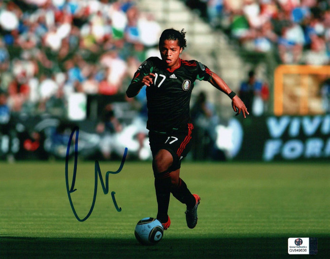 Giovani dos Santos Signed Autographed 8X10 Photo LA Galaxy Mexico Running 849636