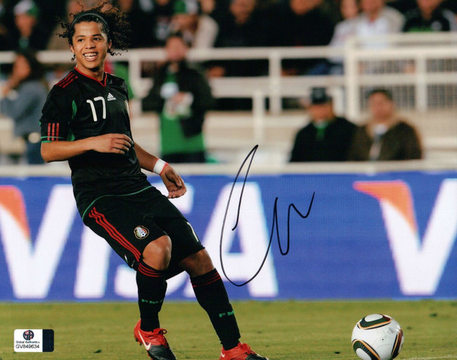 Giovani dos Santos Signed Autographed 8X10 Photo LA Galaxy Mexico Smile GV849634