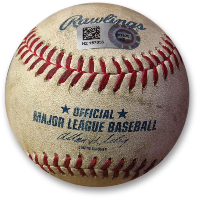 Andre Ethier Game Used Baseball 7/2/14 - Foul off Jody Allen Dodgers HZ167835