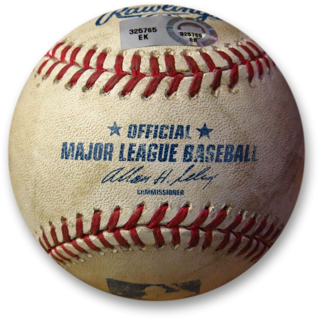 Carlos Gonzales Game Used Baseball 7/14/13 Hit By Pitch Nolasco Dodgers EK325765