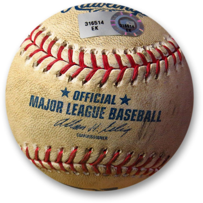 Adrian Gonzalez Game Used Baseball 4/30/13 Foul vs. De La Rosa Dodgers EK316514