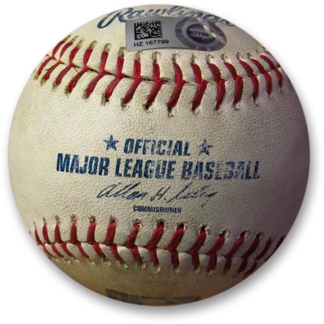 Adrian Gonzalez Game Used Baseball 7/1/14 - Foul off Atchison Dodgers HZ167799