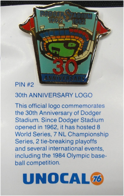 1 Pin - 30th Anniversary Logo - Los Angeles Dodgers Unocal 76 Pin