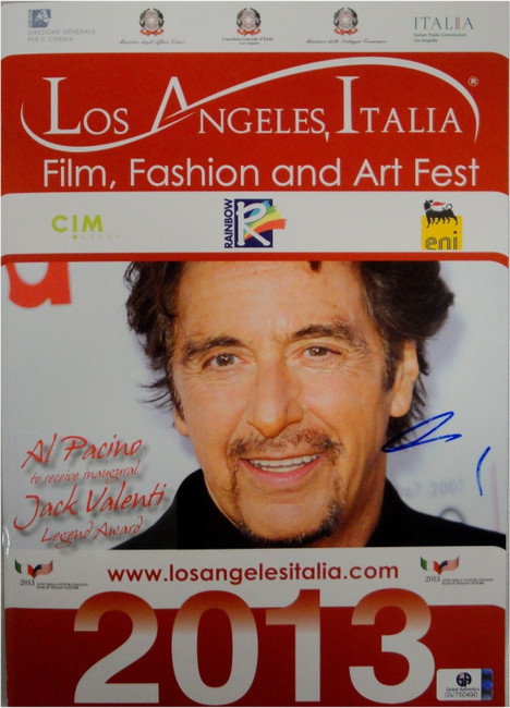 Al Pacino Hand Signed Autographed Los Angeles Art Fest 2013 Program GA GV 750490