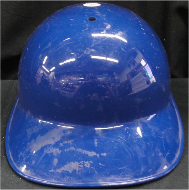 Blank Authentic MLB Dodgers Batting Helmet shows some wear No Flap No Logo SZ ?