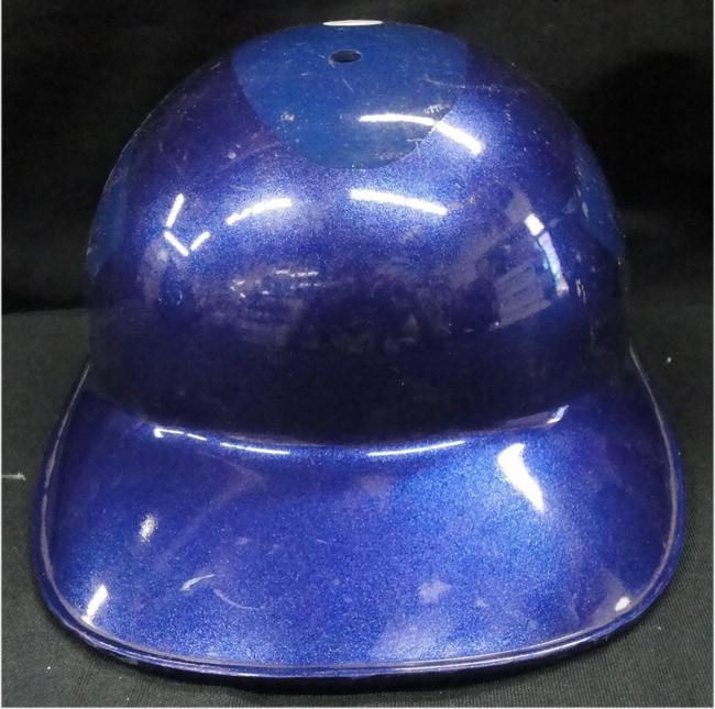 Blank Authentic MLB Dodgers Batting Helmet shows some wear No Flap No Logo Sz 7