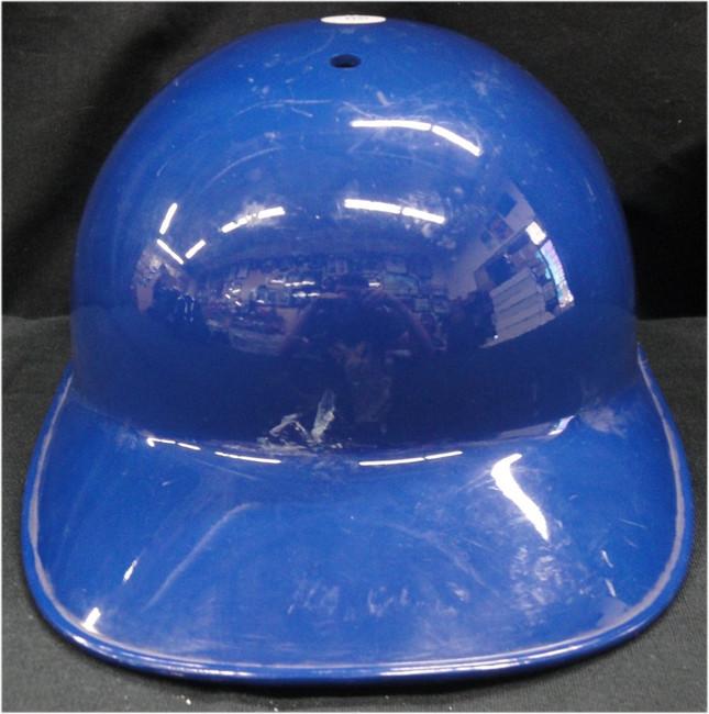 Blank Authentic MLB Dodgers Batting Helmet shows some wear No Flap No Logo 7 1/8