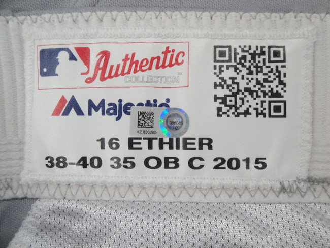 Andre Ethier Major League Baseball Dodgers Team Issue Road Baseball Pants 836085