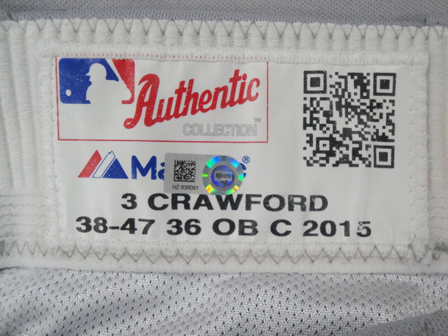 Carl Crawford Major League Baseball Dodgers Team Issue Road Baseball Pants 36091