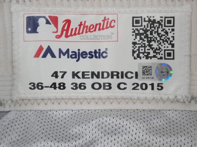 Howie Kendrick Major League Baseball Dodgers Team Issue Road Baseball Pants 6130