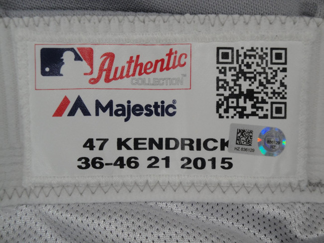 Howie Kendrick Major League Baseball Dodgers Team Issue Road Baseball Pants 6129