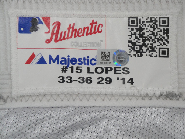 Davey Lopes Major League Baseball Dodgers Team Issue Road Baseball Pants 6110