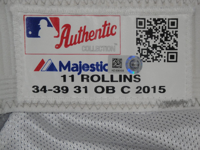 Jimmy Rollins Major League Baseball Dodgers Team Issue Road Baseball Pants 36108
