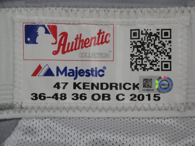Howie Kendrick Major League Baseball Dodgers Team Issue Road Baseball Pants 6133