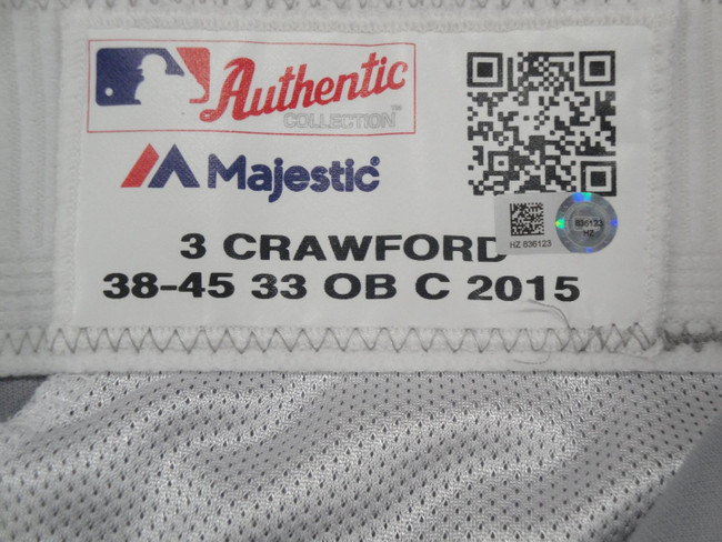 Carl Crawford Major League Baseball Dodgers Team Issue Road Baseball Pants 6123