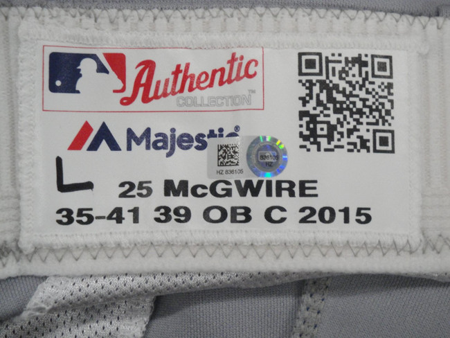 Mark McGwire Major League Baseball Dodgers Team Issue Road Baseball Pants 836105