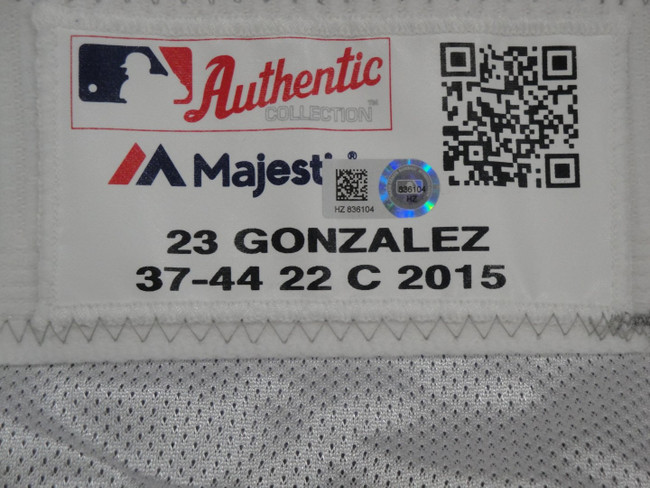 Juan Gonzalez Major League Baseball Dodgers Team Issue Road Baseball Pants 6104