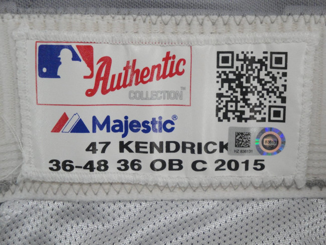 Howie Kendrick Major League Baseball Dodgers Team Issue Road Baseball Pants 6131
