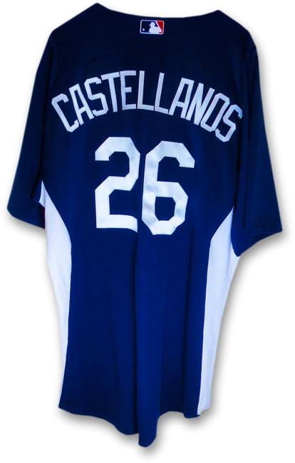 Alex Castellanos LA Dodgers Team Issue Batting Practice Jersey #26 MLB EK645218