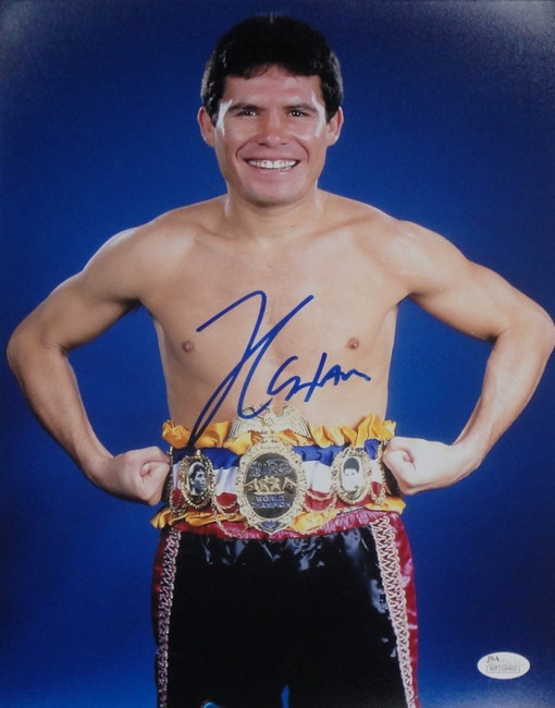 Julio Cesar Chavez Sr Signed Autographed 16x20 Photo Standing with Belt Ring JSA