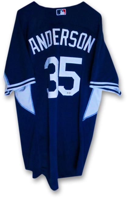 Brett Anderson LA Dodgers Team Issue Batting Practice Jersey #35 MLB Holo